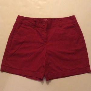 Ann Taylor Loft original shorts red size 2